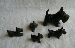 Vintage Mixed Lot PorcelainMetal Scottish Terrier Scotty Dog Figurines