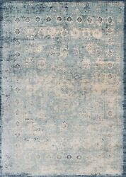 9and039x13and039 Loloi Rug Anastasia Polypropylene | Polyester Lt. Blue Ivory Machine-made