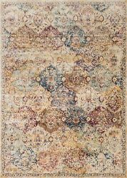 9and039x13and039 Loloi Rug Anastasia Polypropylene And Polyester Ivory Multi Color Machine-m