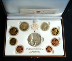 2011 Italy Vatican Rare Official Complete Set Euro Coins Unc Proof Benedetto Xvi