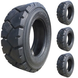 Set of 4 - Carlisle 10x16.5 Ultra Guard LVT Severe Duty Skid Steer Tire - 10 Ply