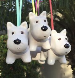 Westie Christmas Tree Ornament - Ceramic Hand Designed West Highland Terrier