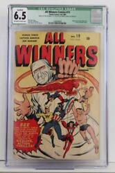 All Winners Comics #19 - CGC 6.5 FN+ Timely 1946 - 1st App of All Winners Squad!