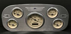 1935 1936 Ford Truck 5 Gauge Dash Panel Insert Polished Programmable Tan