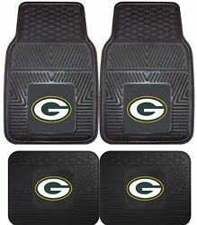 Green Bay Packers Heavy Duty Floor Mats 2 And 4 Pc Sets For Car Trucks And Suvand039s