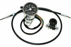 Mini 60mm Mph Speedometer 21 Ratio For Harley-davidson