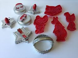 Lot Of 10 Vintage Cookie Cutters Including Lowes Tom And Jerry
