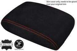 Red Stitch Fits Acura Integra 1994-2001 Armrest Cover Real Suede