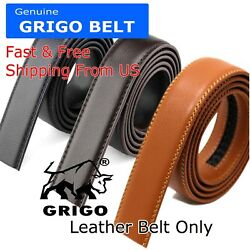 Fashion Men#x27;s Automatic Real Leather Ratchet Belt Strap Jeans Waistband Gift $7.95