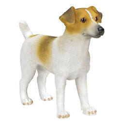Jack Russell Terrier Dog Figurine Miniature Animal Collectible Decoration Gift