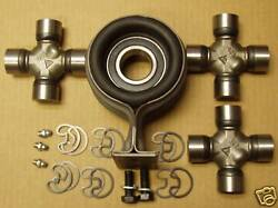 58 59 60 61 62 63 64 Chevrolet Chevy U Joints + Hanger Bearing Support Kit