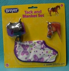 BREYER CLASSIC WESTERN TACK & BLANKET SET NIP SADDLE-PAD-BRIDLE-PRINT BLANKET