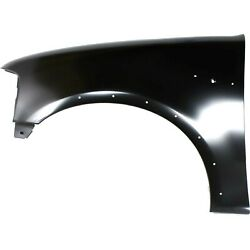 Fender For 1997-2003 Ford F-150 Front Driver Side Primed Steel W/ Molding Holes