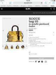 Coach Rogue 25 Metallic Patchwork Leather