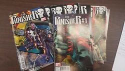 Marvel Comic Lot The Punisher 2011 1-13 Vf/vf+ Bagged