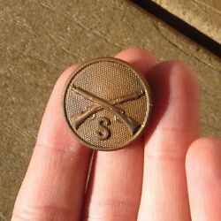 Ww1 Original Us Army Military Enlisted Infantry Co S Collar Disc Brass