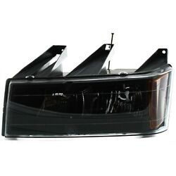 Headlight For 2004-2012 Chevrolet Colorado Left Clear Lens Interior With Bulb