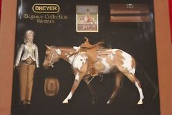 BREYER  1191 ELEGANCE COLLECTION SHOW HORSE WITH TACK & DOLL MIB~ GORGEOUS SET