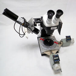Bausch And Lomb Stereozoom 5 Microscope W/ Mitutoyo 164-136-micrometer X/y Stage