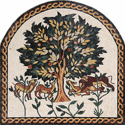ARCH Tree Of Life Surround Deers Animals Plants 44