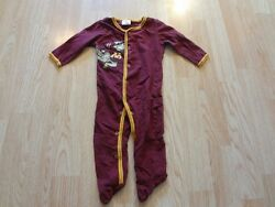 Infant/baby Minnesota Gophers 0/3 Mo Footies Buttoned Pajamas Pjs Goldy Gopher P