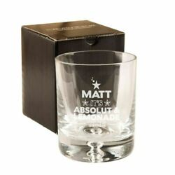 Personalised Engraved Absolut Vodka And Lemonade Glass, Men's Christmas Gifts