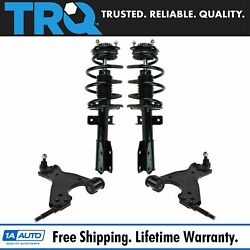 Trq 4 Pc Suspension Kit Control Arms W/ Complete Strut And Spring Assemblies New