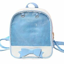 LA CHA Girls Candy Backpack Purses with Bowknot Clear Backpacks Ita Bag for teen