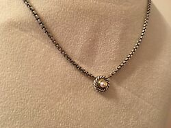 Yurman Sterling Silver And14kt Gold Pearl Cookie Necklace
