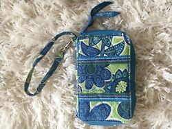 Vera Bradley Doodle Daisy Quilted Small Women's Wallet Wristlet FREE SHIPPING