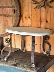 Antique French Marble Butcherand039s Display Table