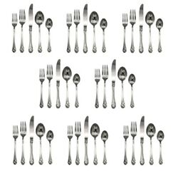 Mikasa Sweet Pea 18/8 Stainless Steel 40pc. Set Service For Eight