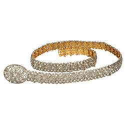 Natural 18k Gold Rosecut Diamond Polki  Belt Necklace Jewelry