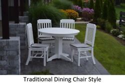 Aandl Furniture Co. Amish-made Poly 5pc Dining Set - Table And Traditional Chairs