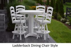 Aandl Furniture Co. Amish-made Poly 5pc Dining Set - Bar Table And Ladderback Chairs