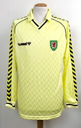 Vintage Wales 1987 Hummel Away Player Shirt No.5 Long Sleeves Superb Condition