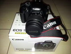 New Canon Eos 1100d Digital Camera With Charger Zoom Lens Carry Bag And Covers