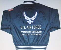 Phu Cat Air Basevietnam Veteran Air Force Embroidered 2-sided Satin Jacket
