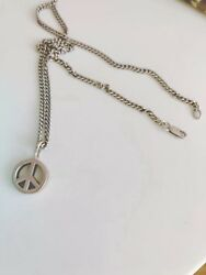 Vintage Silver Peace Chain- 925 Marking Amazing Design And Excellent Condition