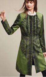 61. Euc Anthropologie Pommed Veronika Coat By Tracy Reese Green Size 6