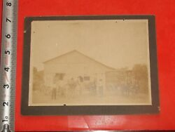 Ja461 Antique Matted Real Photo Horse Drawn Ice And Coal Wagon Ballinger Alton Il