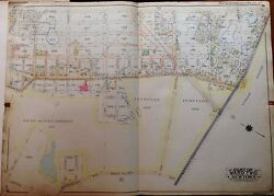 Orig 1915 Maspeth Lutheran And Mt. Olivet Cemetery P.s. 71 Queens Ny Atlas Map