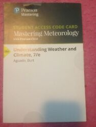 Mastering Meteorology Understanding Weather Climate 7e Student Access code card