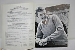 Vintage And Classic Knitting Instruction Book For Mens Sweaters And Vests