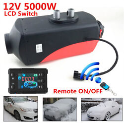 12V 5KW LCD Monitor Air Diesel Fuel Heater With Remote Controller For Car Truck