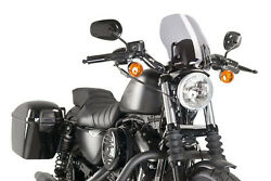 Puig Pare Brise Naked N.g. Touring Pour Harley D. Sportster Nightster 2011 Fume