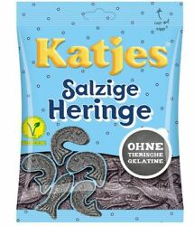 8 X Katjes Salzige Heringe Candy Sweets Licorice Vegetarian Candy From Germany