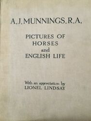 Aj Munnings Pictures Of Horses And English Life 1927 1st Edition