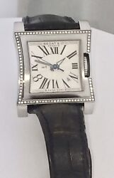 Bedat And Co No 1 Stainless Steel Diamond Bezel Ladies Watch Used