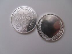 Congratulations Coin. 1oz 999 Silver. Great Job You Did It Coin Free Engraving